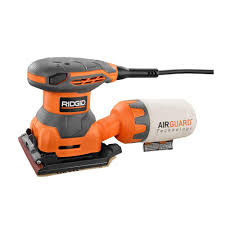 manual sander ridgid 2 4 amp 1 4 sheet sander with airguard technology r25011