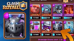 clash royale new favorite deck post update mega minion no