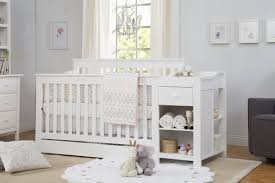 White Convertible Crib With Changing Table by Bedroom Exquisite Remodel Crib Changer Combo With Stylish Trends