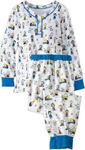 womens flannel ski pajamas in classic peanuts print