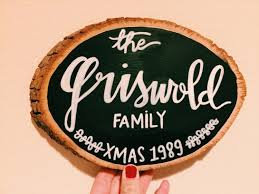 christmas vacation sign griswold hand lettered woodcut