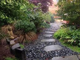 Small Pebble Garden Ideas Exterior Attractive Landscaping A Driveway Entrance Decor With