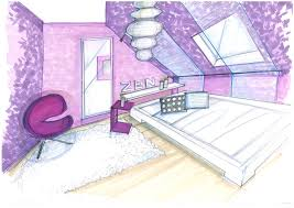 comment dessiner sur un mur de chambre dessiner une chambre en perspective chaios com