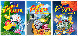 The Brave Toaster The Brave Little Toaster 1 2 3 Dvd Lot Rescue Goes To Mars Disney