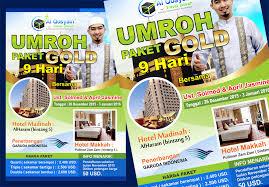contoh desain brosur hotel sribu flyer brochure design desain brosur untuk umroh al