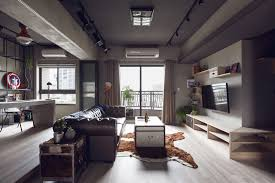 Complex Bachelors Apartment In Taiwan With An Industrial - Bachelor apartment designs