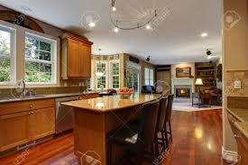 large open floor plans open floor plan view of elegant kitchen area with kitchen island