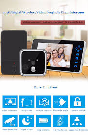 Front Door Video Monitor by 120 Degree Wide Lens Angle Infrared Wireless Video Digital Front
