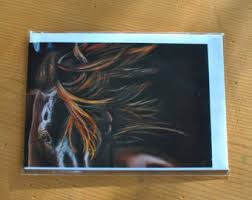 equestrian cards etsy