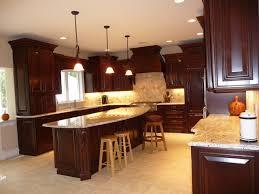 Kitchen Design Cherry Cabinets by Dark Cherry Kitchen Remodel Before After Traditional Kitchen
