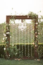 wedding backdrop arch frame chandelier wedding arch winery west lawn joseph