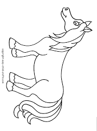 picture horse color kids coloring