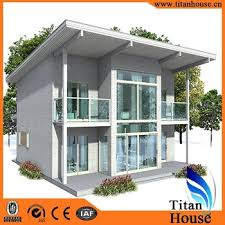 low cost modern design light gauge steel framing prefab house