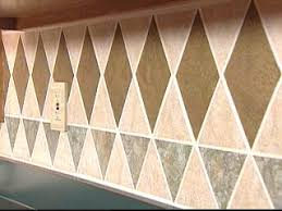 Kitchen Backsplash Wallpaper by Install A Tile Wallpaper Backsplash Hgtv