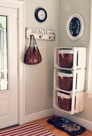 creative ideas entryway paint color with white crates storage and