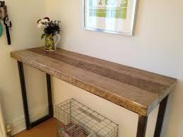 Oak Breakfast Bar Table Industrial Mill Reclaimed Wood Breakfast Bar Console Table