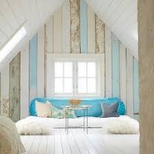 seaside style wood plank walls
