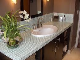 Small Bathroom Countertop Ideas Artistic Tile Bathroom Countertops Brightpulse Us In Diy
