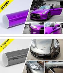 rose gold car premium chrome stretchable chrome vinyl car wrap sticker with