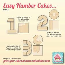 how to create easy number cakes no special tins required cake
