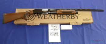 weatherby pa 08 upland 12 gauge pump shotgun for sale