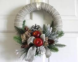 Christmas Wreath Decorations Wholesale Uk by Front Door Wreaths Etsy
