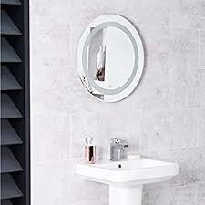 my furniture round led illuminated bathroom mirror demister