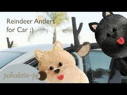 reindeer ears for car diy reindeer antlers for car polkadottiepie felt craft tutorial