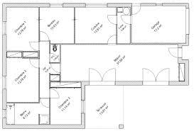 plan de maison en l avec 4 chambres cuisine plan de maison chambres plan maison 4 chambres plain pied