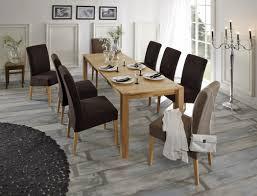 Esszimmer Stuhl Zu Holztisch Sitzgruppe Tisch Georg 140 220 X80 8 Stühle Lenz Braun Taupe