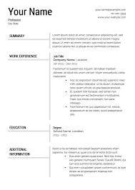Free Resume Templates Download Pdf Make Free Resume Resume Template And Professional Resume