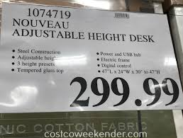 tresanti sit to stand power height adjustable tech desk tresanti nouveau adjustable height desk costco weekender