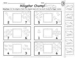 greater than less than worksheet for kindergarten alligator greater than less than worksheets alligators