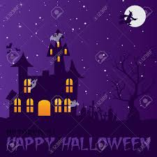haunted house happy halloween card royalty free cliparts vectors