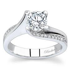twist engagement ring barkev s 14k white gold tension twist diamond engagement ring