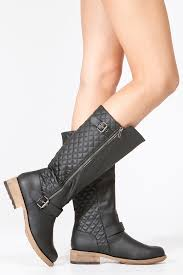 womens boots quilted qupid black quilted zip up boots cicihot boots catalog