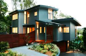 Exterior Paint For Windows Appealing Brown House Entrance Door And Black Roof Tile Beautiful