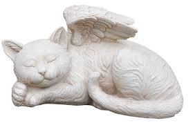 amazon com napco 11145 sleeping angel cat with wings garden