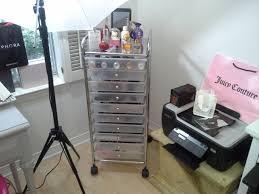 bathroom transparent acrylic makeup storage with storage drawers