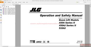jlg boom lift 450a series ii 450aj series ii 510aj operation and