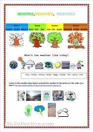 month seasons weather worksheet free esl printable worksheets