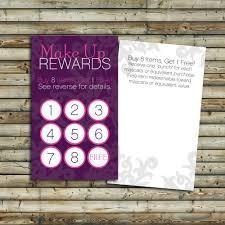 make up rewards cards 100 250 500 customer loyalty