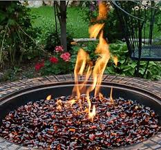 Fire Pit Glass Stones by Iridescent Lustre Glass Firepit Pebbles Assorted Colors 22 Lb Bag