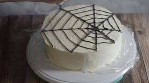 halloween spiderweb cake tutorial youtube