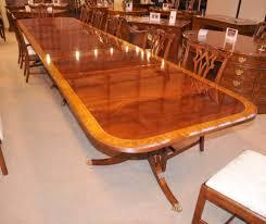 mahogany dining table 16 ft regency dining table triple pedestal mahogany diner