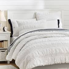 Pottery Barn White Comforter Ruched Quilt Sham Pbteen