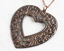 black heart necklace pendant images Black heart pendant etsy jpg