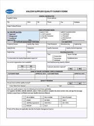 11 supplier questionnaire form sample free sample example