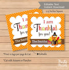 editable thanksgiving favor tag printable i am thankful for you