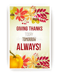 vector quote giving thanks today tomorrow always happy